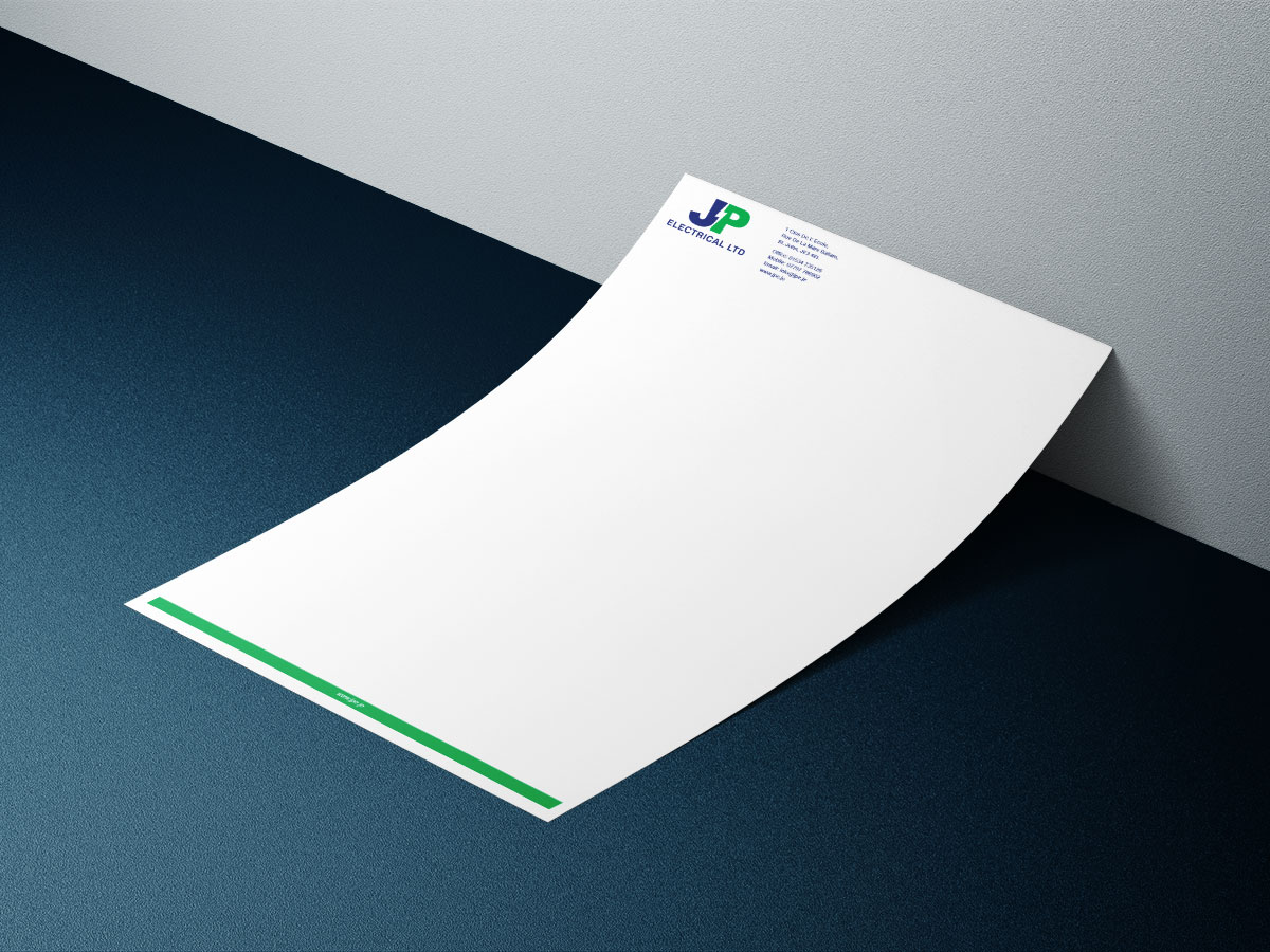Traction Design - Letterheads for Jersey Company
