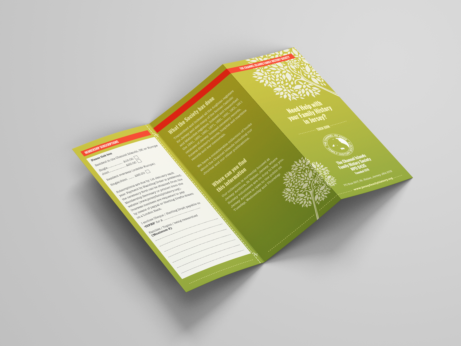 Traction Design - Leaflet for Jersey Company