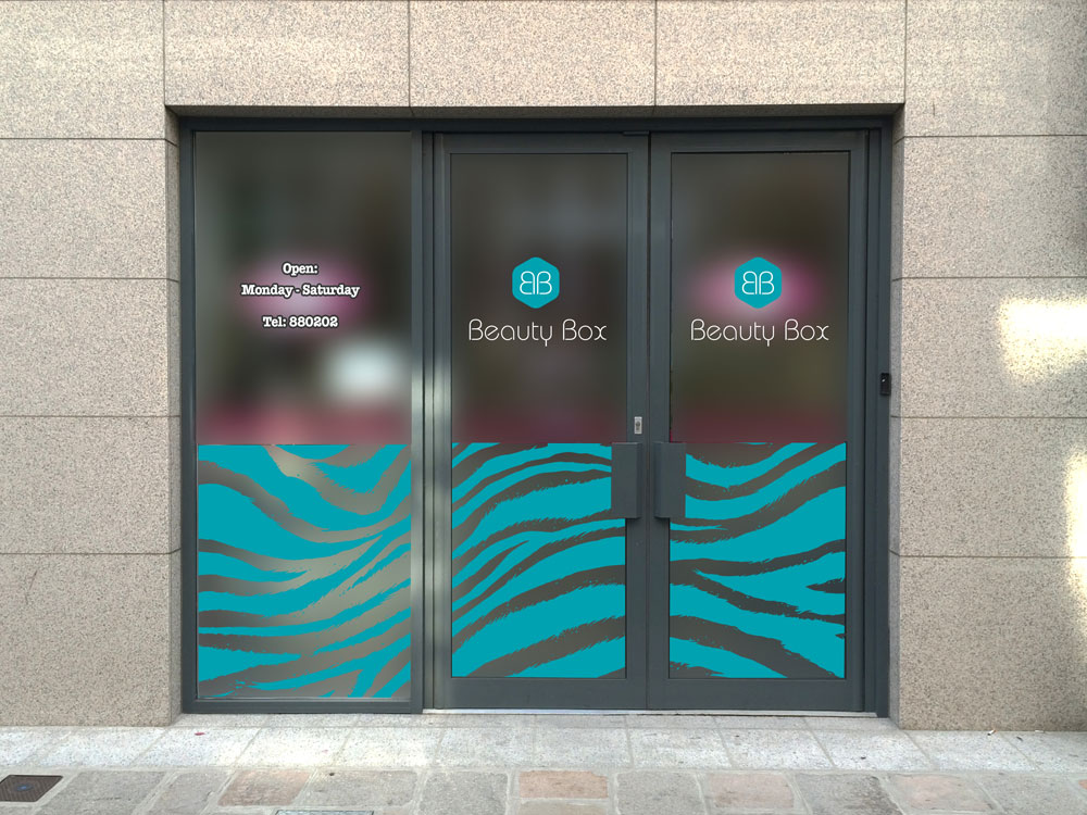 Traction Design - Window Signage for Jersey Company